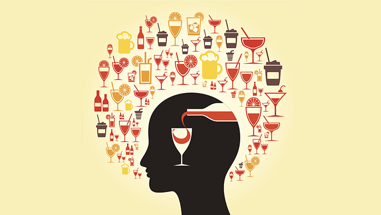 Alcohol in a head