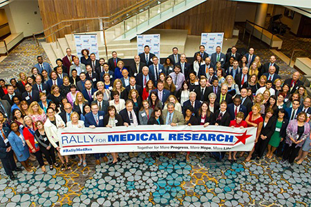 Group photo from the Rally for Medical Research