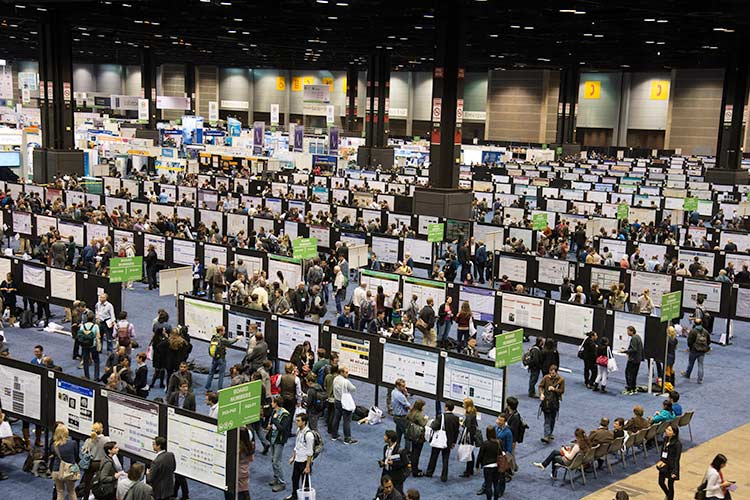 Poster floor at the annual meeting