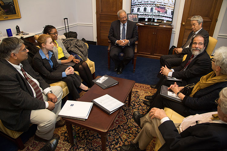 Members meet with Rep. Chaka Fattah (D-PA) as part of Capitol Hill Day 2014