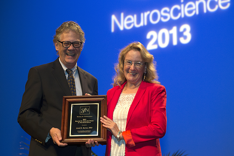 Gerard Prize recipient honored at Neuroscience 2013.
