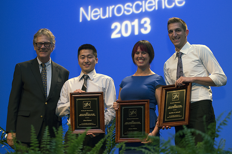 Next Generation Award recipients honored at Neuroscience 2013.