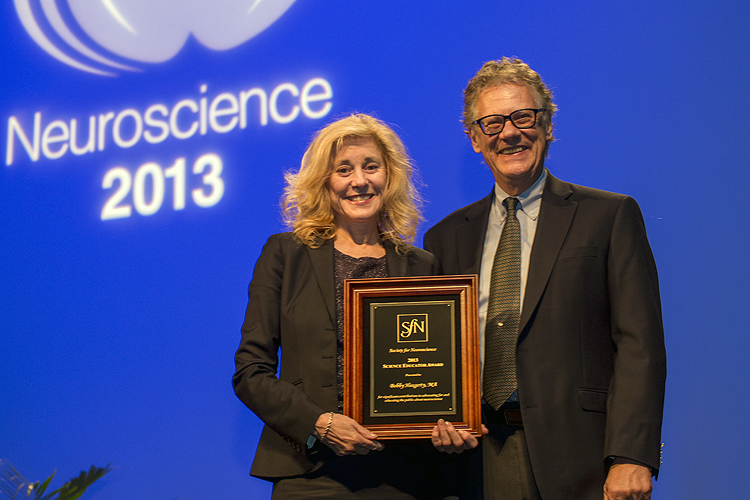 Science Educator Award recipient honored at Neuroscience 2013.