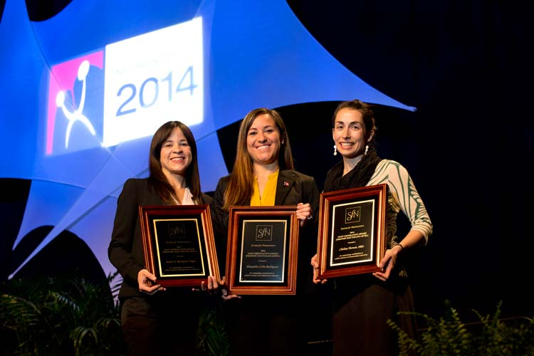 (From Left to Right) Next Generation Award - Eileen S. Rodríguez Tapia, Alexandra Colón-Rodríguez, Chelsea Tiernan.