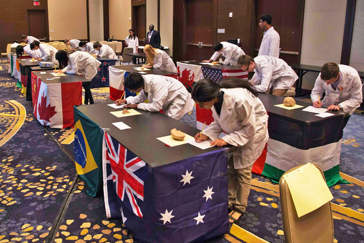 Students from seventeen countries participated in the 2014 International Brain Bee in Washington, DC.