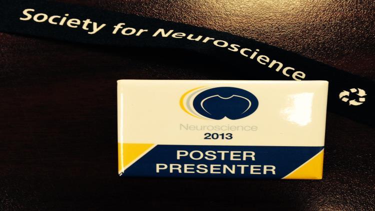 Annual meeting poster presenter badge