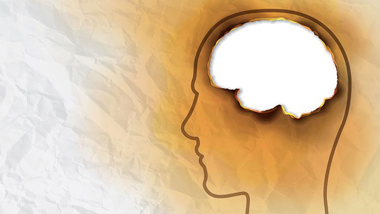 white brain outline of a head
