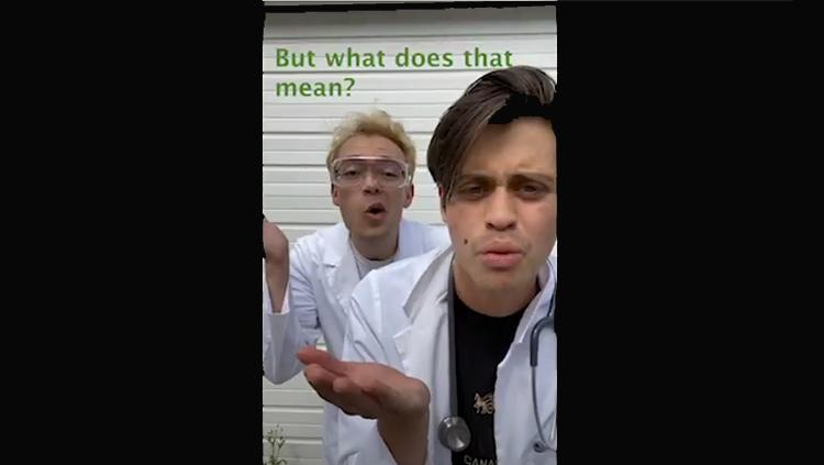 Image of two men singing