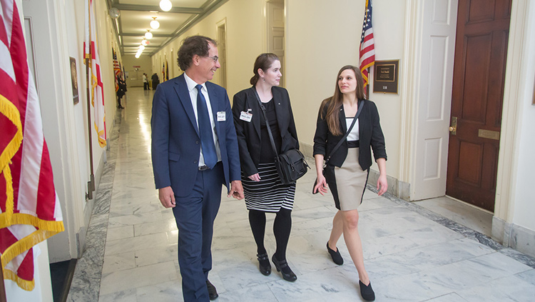 Three participants at the 2018 SfN Hill Day