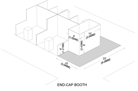 Booth End Cap