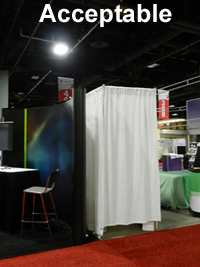 Image of acceptable booth presentation.