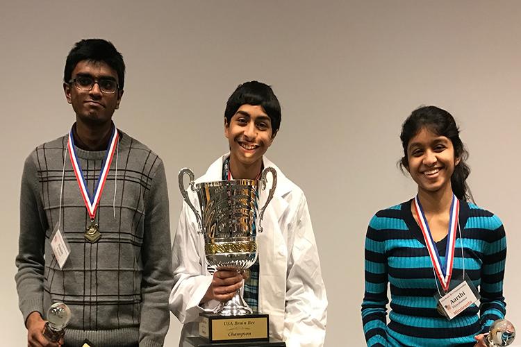 Top 3 National Brain Bee winners