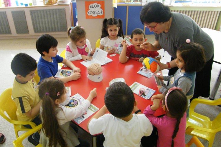 Children in Turkey celebrate the brain during Brain Awareness Week.