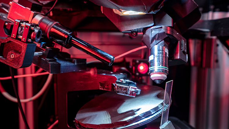 A specialized microscope at the Allen Institute for Brain Science