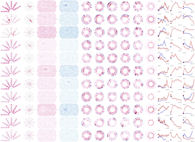 Data visualizations from the Allen Brain Observatory.