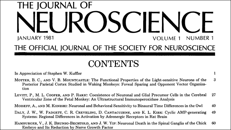 society for neuroscience website home page