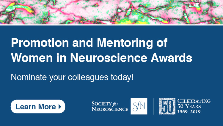 Women in Neuroscience Award nomination advertisement