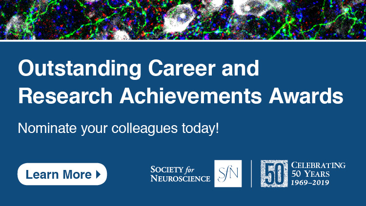 Outstanding Career and Research Achievement Award nomination advertisement