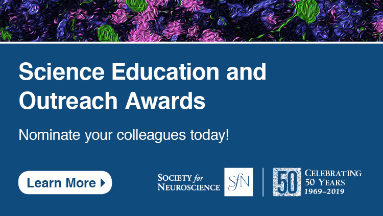 Science Education and Outreach Award nomination advertisement