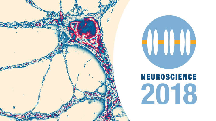Neuroscience 2018 logo with generic science image