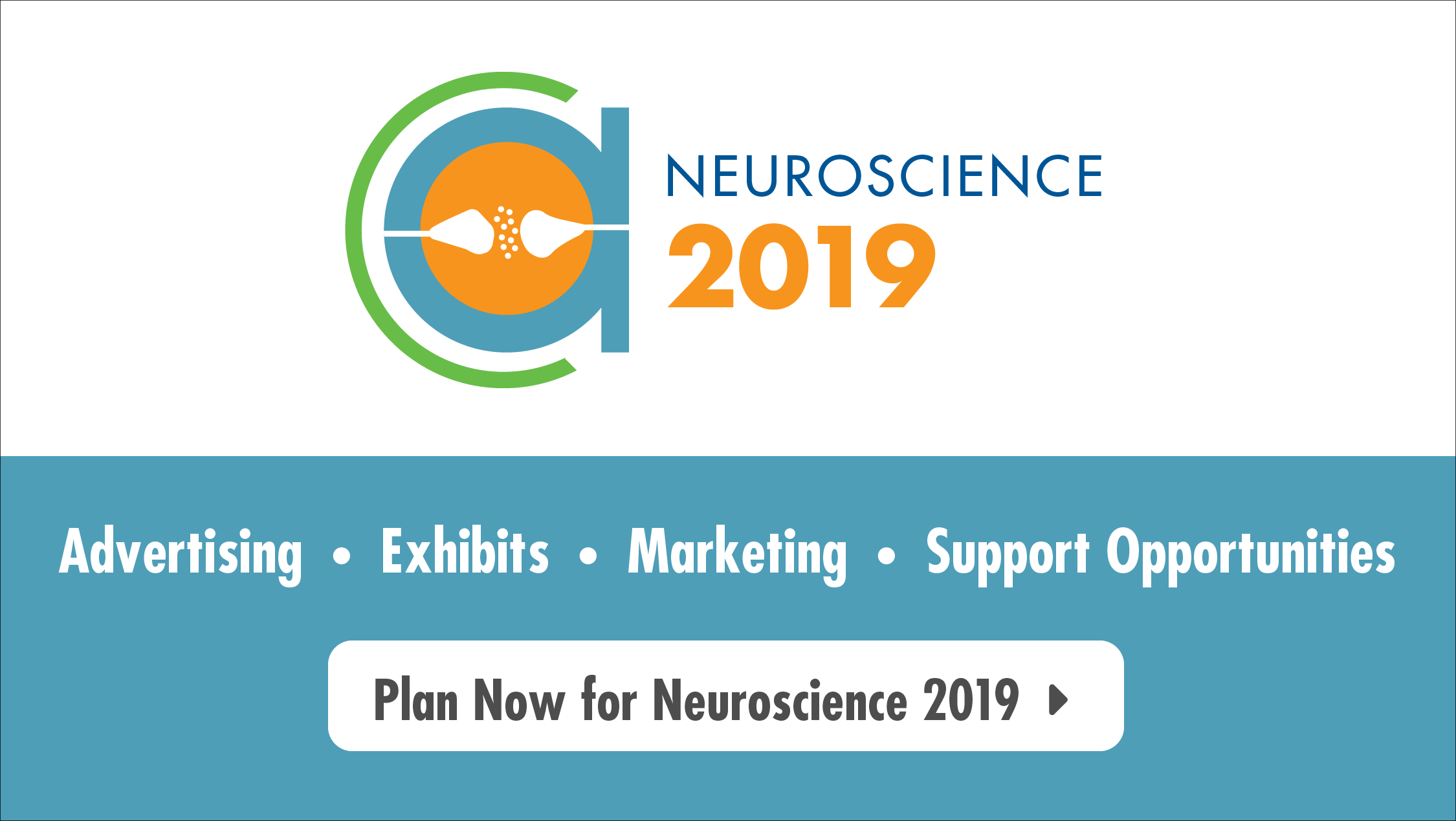 Exhibits, Advertising, Marketing, Support Opportunities advertisement for Neuroscience 2019