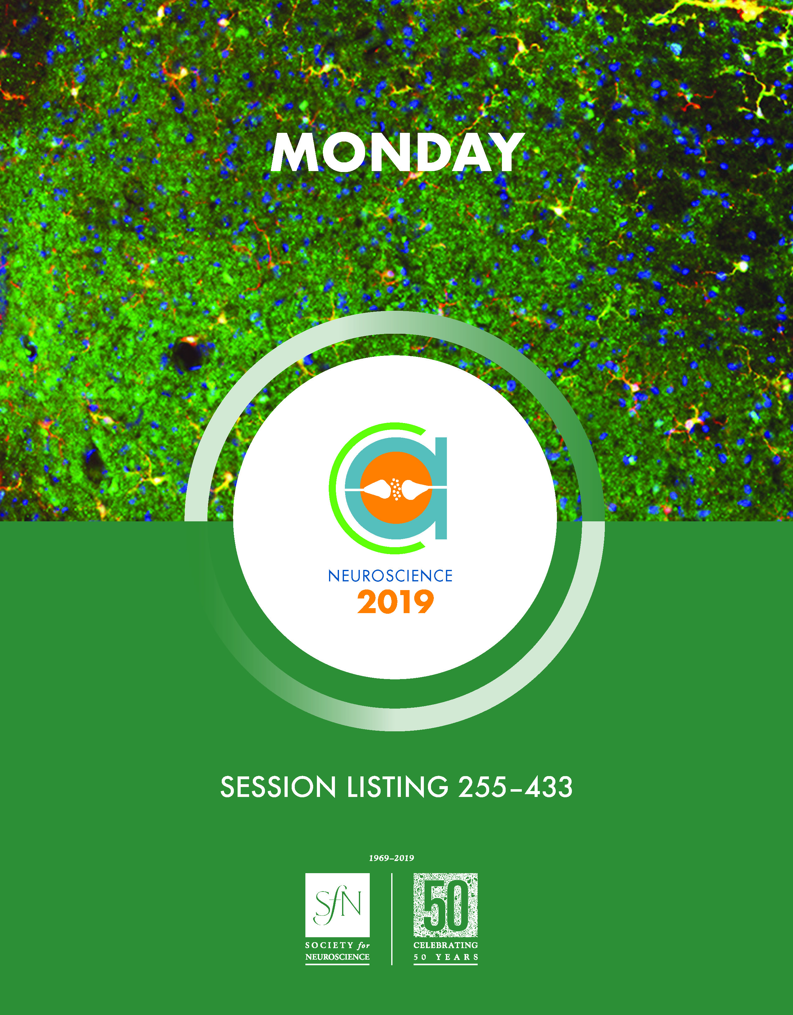 The cover of the Neuroscience 2019 final program day three book is shown here.
