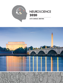 Neuroscience 2020 logo and image of the Washington Monument and Lincoln Memorial