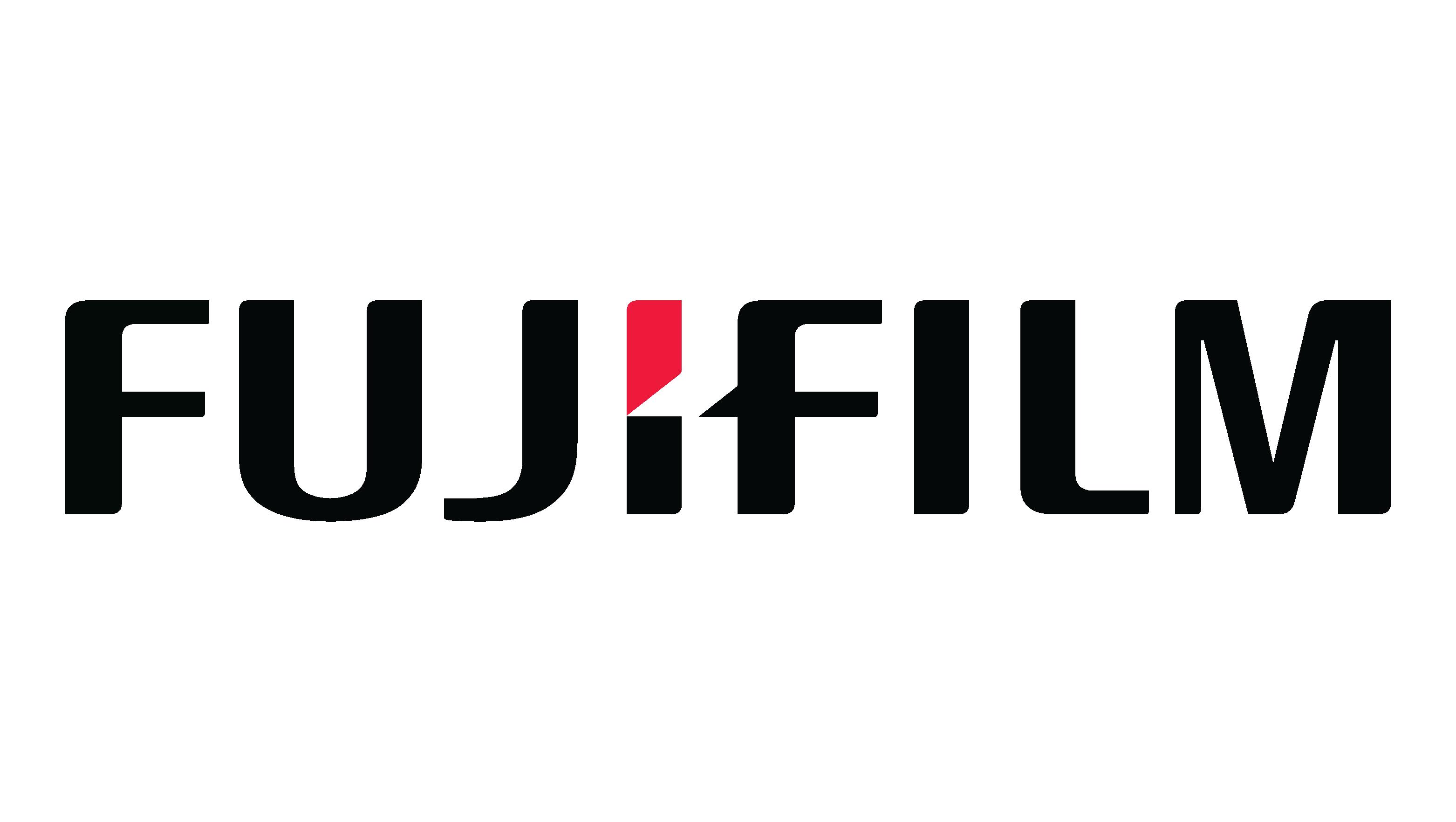 """Fujifilm logo """"value from innovation"""""""