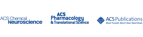 Logos for ACS Chemical Neuroscience, ACS Pharmacology & translational Science, and ACS Publications
