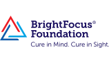 "BrightFocus Foundation logo ""cure in mind. cure in sight."""