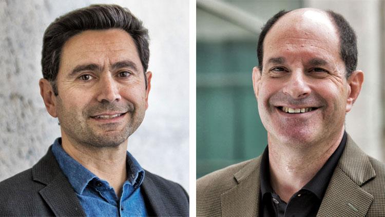 Ardem Patapoutian (left) David Julius (right)