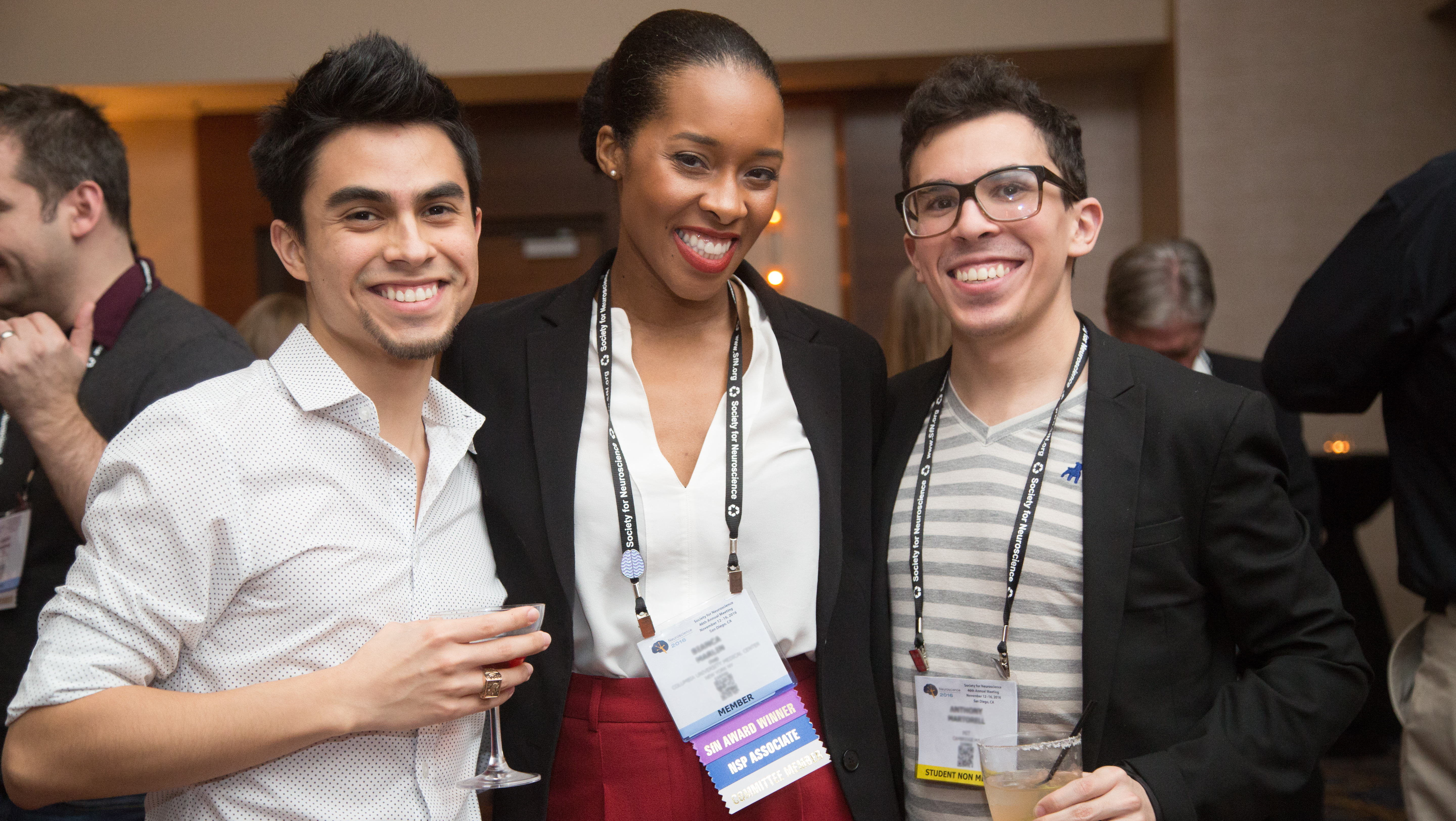Attendees at SfN's annual meeting can make connections anywhere — in lecture halls, on the poster floor, and at special networking events.