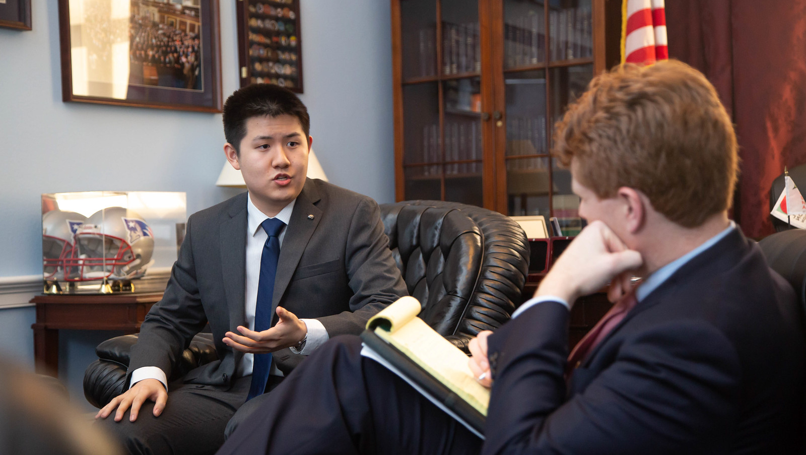2019 ECPA Maxwell Zhu meets with Rep. Joe Kennedy III (MA)