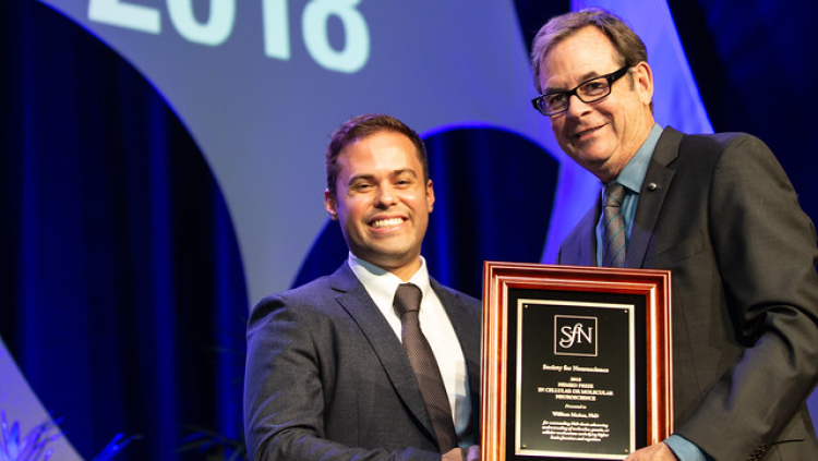 William Muñoz, PhD, of New York University, receives the Nemko Prize in Cellular or Molecular Neuroscience.