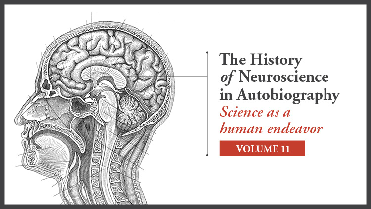 Diagram of a human head; The History of Neuroscience in Autobiography Science as a human endeavor Volume 11