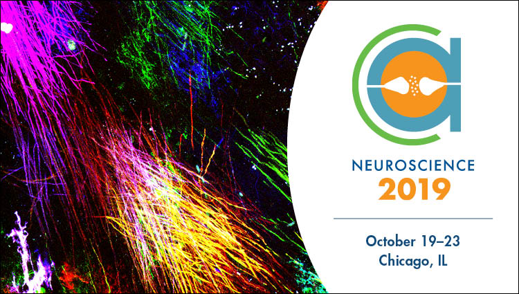 Neuroscience 2019 advertisement logo with generic science image