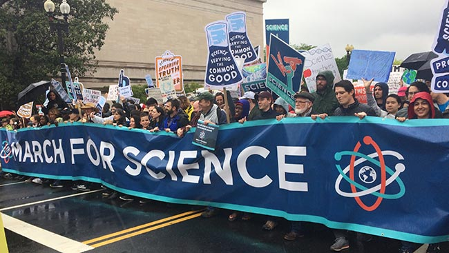 Science supporters walk with
